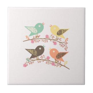 Four birds tile