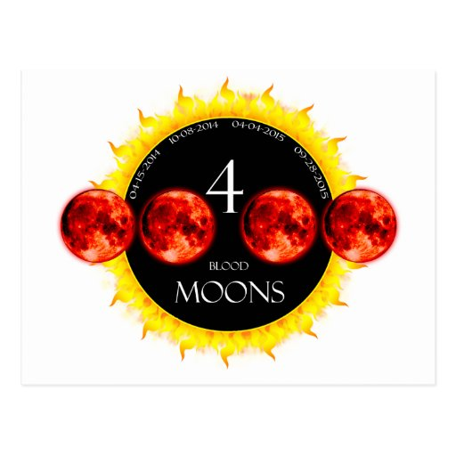 Four Blood Moons Post Cards