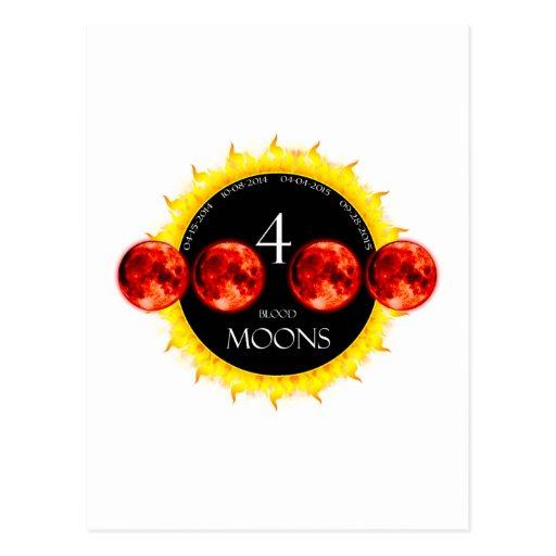 Four Blood Moons Postcard
