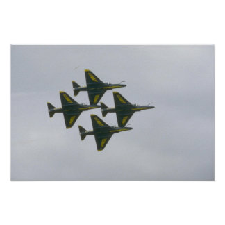 Four Blue Angel A-4s In Diamond Poster