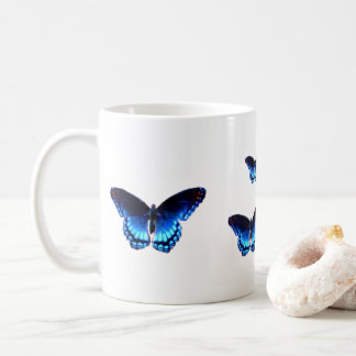 Four Blue Butterflies Coffee Mug