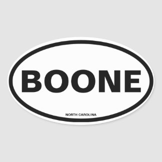 FOUR Boone Oval Sticker
