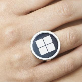 Four Boxes Symbol Photo Ring