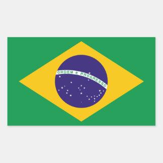 FOUR Brazil National Flag Sticker