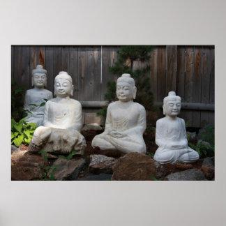Four Buddhas Poster