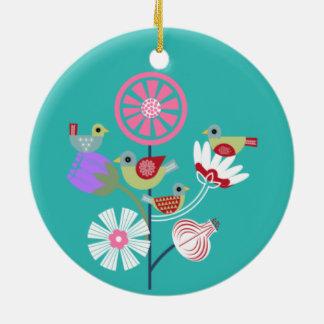 Four Calling Birds Ceramic Ornament