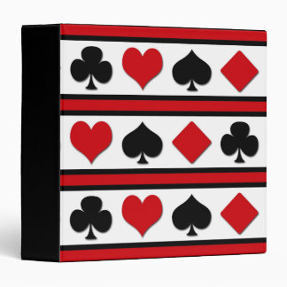 Four card suits 3 ring binder