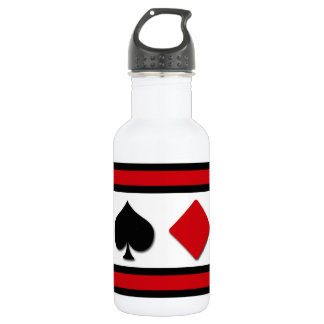 Four card suits 532 ml water bottle