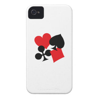 Four Card Suits Case-Mate iPhone 4 Cases