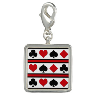 Four card suits charm