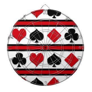 Four card suits dartboard