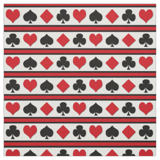 Four card suits fabric