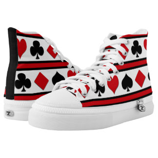 Four card suits high tops