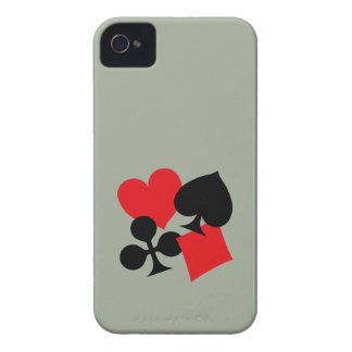 Four Card Suits iPhone 4 Covers
