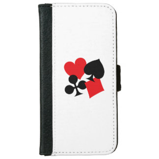 Four Card Suits iPhone 6 Wallet Case