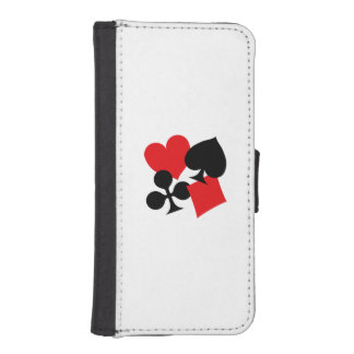 Four Card Suits iPhone SE/5/5s Wallet Case
