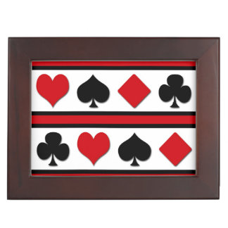Four card suits keepsake box