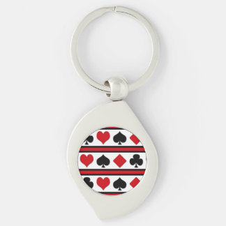 Four card suits keychain