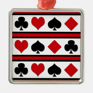Four card suits metal ornament