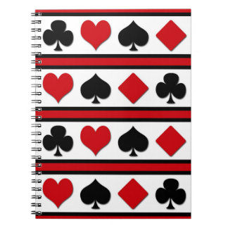 Four card suits notebooks