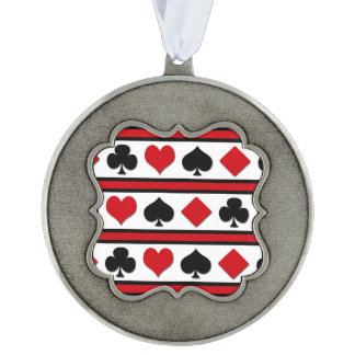 Four card suits ornament