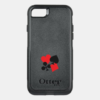Four Card Suits OtterBox Commuter iPhone 8/7 Case