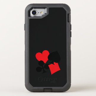 Four Card Suits OtterBox Defender iPhone 8/7 Case
