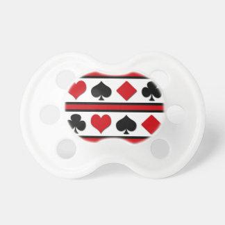 Four card suits pacifier