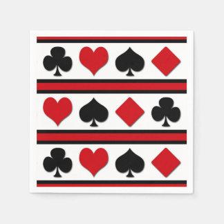 Four card suits paper napkins