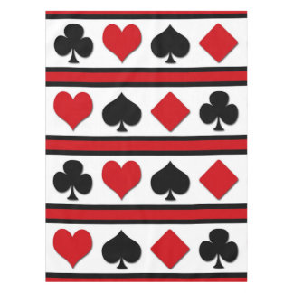 Four card suits tablecloth