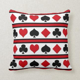 Four card suits throw pillow