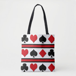 Four card suits tote bag