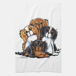 Four Cavalier King Charles Spaniels Kitchen Towel