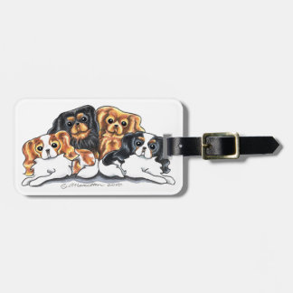 Four Cavalier King Charles Spaniels Luggage Tag