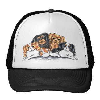 Four Cavalier King Charles Spaniels Trucker Hat