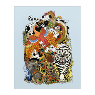 four celestial animals acrylic print