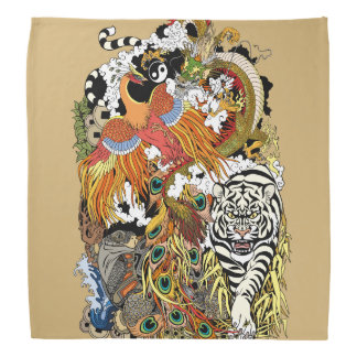 four celestial animals bandana