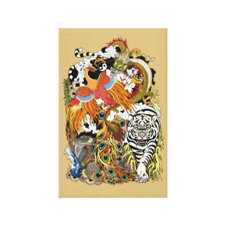 four celestial animals canvas print