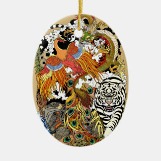 four celestial animals ceramic ornament