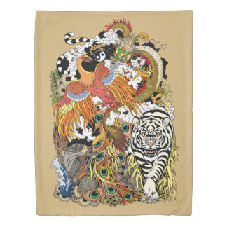 four celestial animals duvet cover