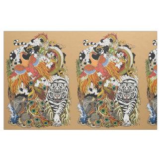 four celestial animals fabric