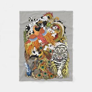 four celestial animals fleece blanket