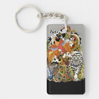 four celestial animals keychain