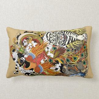 four celestial animals lumbar pillow
