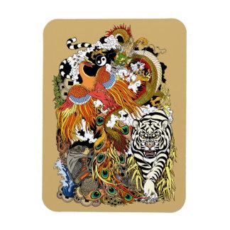four celestial animals magnet