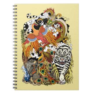 four celestial animals notebook