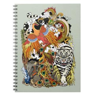 four celestial animals notebooks