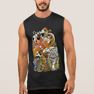 four celestial animals sleeveless shirt