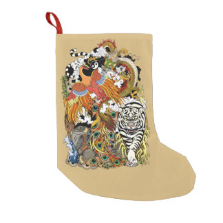 four celestial animals small christmas stocking