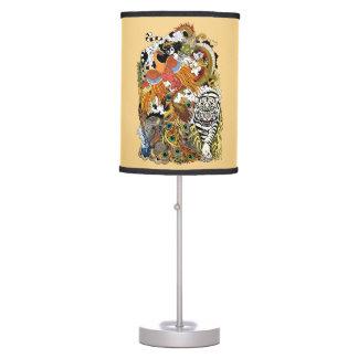 four celestial animals table lamp